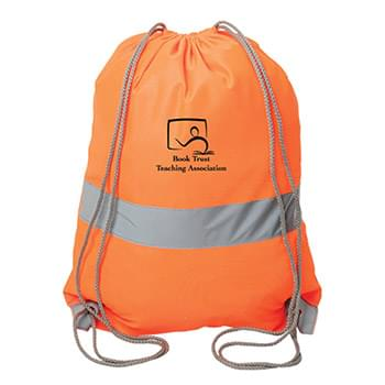 HIGH-VIZ SAFETY DRAWSTRING BACKPACK