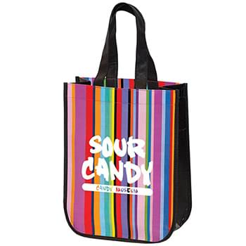 MINI multi-stripe RECYCLED TOTE