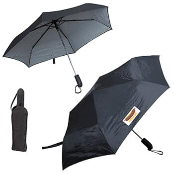 PINSTRIPE FOLDING UMBRELLA