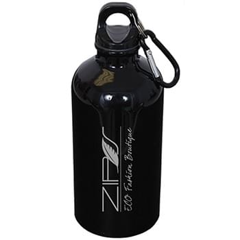 500 ml (17 oz.) STAINLESS STEEL WATER BOTTLE WITH CARABINER