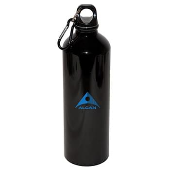 750 ML (25 OZ.) ALUMINUM WATER BOTTLE WITH CARABINER